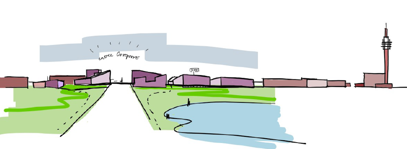 Oostpoort skyline