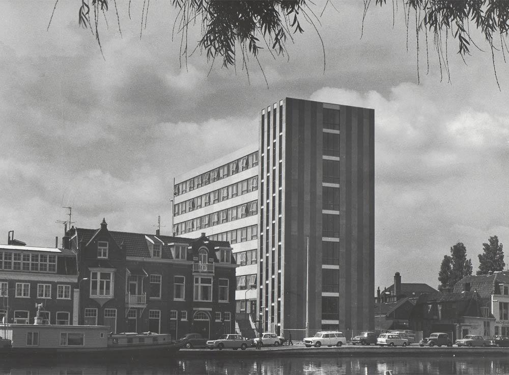Koningstein in HAARLEM, oude zwart wit foto uit Noord Hollands archief.